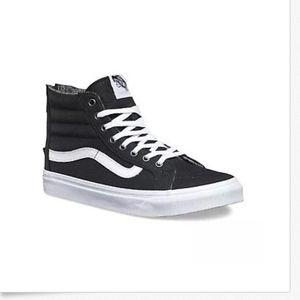 25c3fd9b860b96 Vans Shoes - Vans Sk8 Hi Slim Zip Tweed Dots Black True White